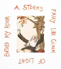 a stormy fairy like gleam of light bathed my room by rob wynne