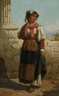 neapolitan girl by pietro gabrini