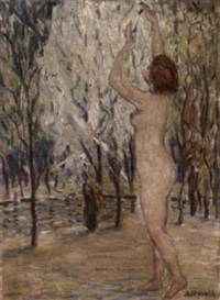 nude in landscape by athan marusis