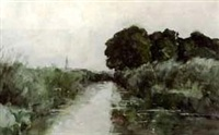 the canal, munich by william forsyth