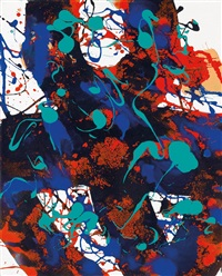 ohne titel (composition 1740) by sam francis