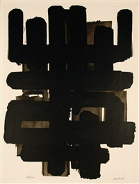 lithographie nº 3 by pierre soulages