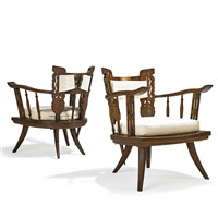 lounge chairs (pair) by ettore zaccari