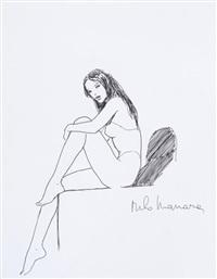 beau dessin représentant une femme dans l'album le piège by milo manara