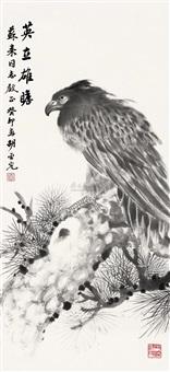 松鹰图 by hu yaguang