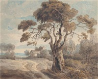 a view near hornsey by francis towne