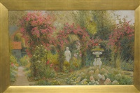 english country garden by arthur claude strachan