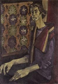 halbportrait eines jungen mannes by cemal tollu