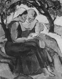 lesende mädchen by herrmann lismann