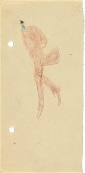gehender mann mit hut by lyonel feininger
