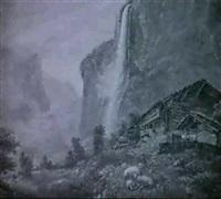 lauterbrunnental mit staubbachfall by w. s. leigh