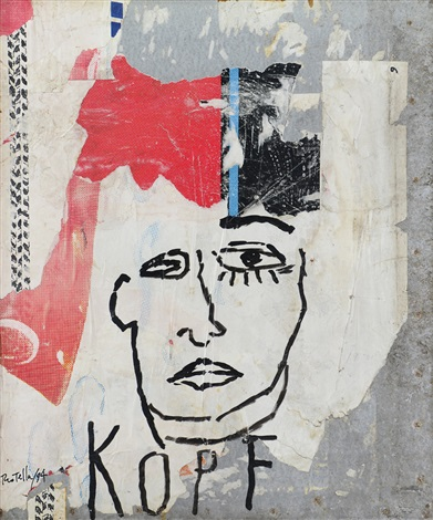 kopf by mimmo rotella