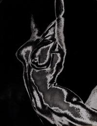 ohne titel (weiblicher akt, solarisiert) by franz fiedler