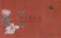 两生花 (butterfly and peony) by gao qian