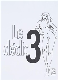 superbe dédicace représentant une femme nue sur la page de titre de l'album le déclic tome 2 by milo manara