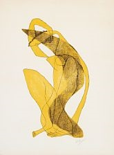 femme assise au bras levé by henri laurens