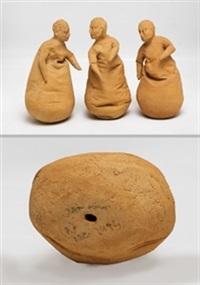 sin título (piezas de conversacion) (3 works) by juan muñoz