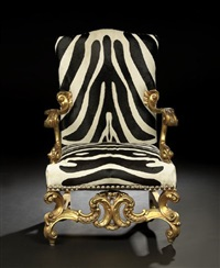 baronial-style fauteuil by ralph lauren