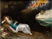 die heilige magdalena in anbetung des kreuzes by anonymous-flemish (17)