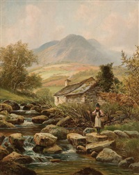 crossing the stream by albert dunnington
