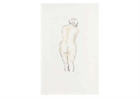 back of the nude (+ 2 others; 3 works) by aristide maillol