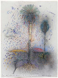 new orleans palm series (4 works) by barry bailey
