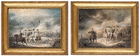 slaget vid wittstock den 24 sept 1636 (+ slaget vid warschau den 19 juli 1656; pair) by emanuel limnell