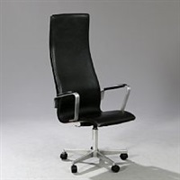 oxford highback swivel chair by arne jacobsen