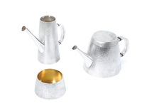 teapot (+ 2 others, various sizes; 3 pieces) by christopher lawrence