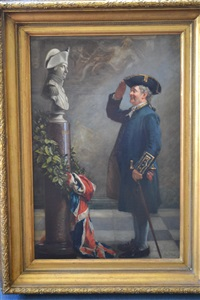 saluting the admiral and untitled (2 works) by albert william holden