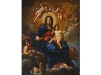 virgen con niño en gloria by francesco solimena