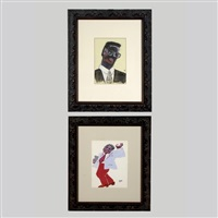 portrait of man (+ man dancing; 2 works) by alek rapoport