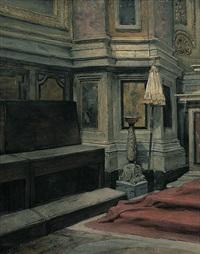 blick in eine kirche by wilhelm von lindenschmit the younger