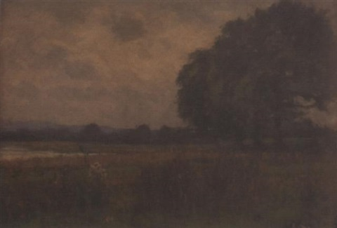 landscape near fay gate sussex by george leon little