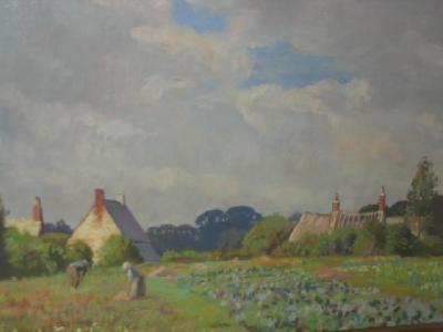 in corfe village dorset by william h waddington