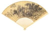 bamboo forest (+ calligraphy by wang shounian, verso) by xu hao