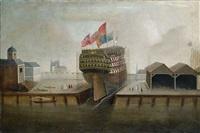 schlachtschiff in einer werft by anonymous-british