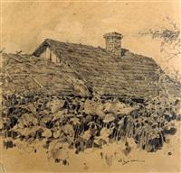 das dach von izba by mikhail markelovitch gurjavine