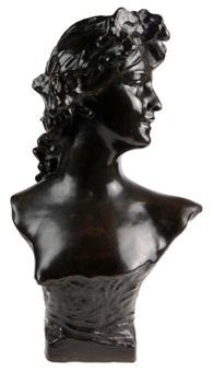 buste d'une bacchante by jef lambeaux