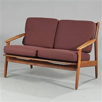 free-standing two-seater sofa by poul volther