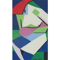 abstracted nude by glenn gant