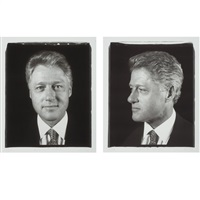 untitled (president clinton) diptych (from freedom of expression) by chuck close