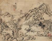 林亭幽静 (landscape) by tang yifen