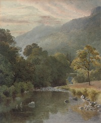 a quiet stretch of the river by charles davidson