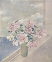窗花 (flowers by the window) by xu manke