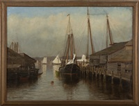 gloucester harbor by laura woodward