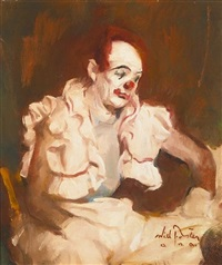clown posed by leon franks by william frederick foster