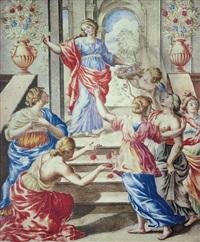 scena allegorica by giulio clovio