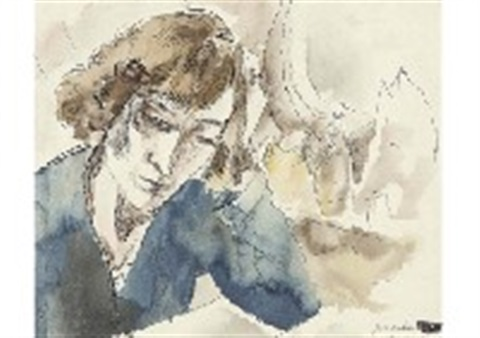 woman by jules pascin
