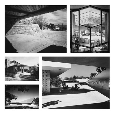 the work of frank lloyd wright set of 20 2 drawings by ezra stoller